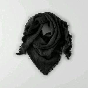 sexual shadow black scarf on grey background